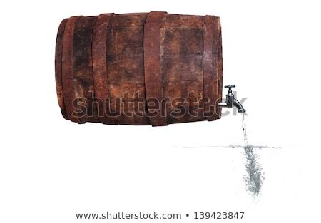 водопроводный кран баррель воды пузырьки древесины Сток-фото © pterwort