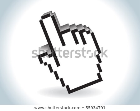 abstract 3d glossy hand cursor Stock photo © rioillustrator