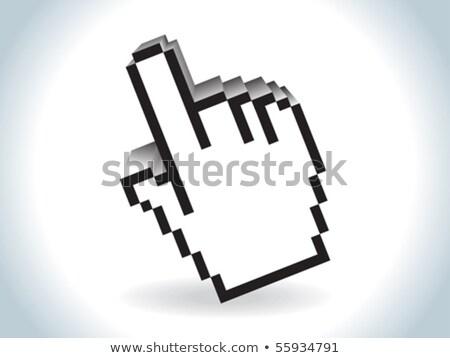 cursor · mão · 3D · ícone · sombra · branco - foto stock © rioillustrator