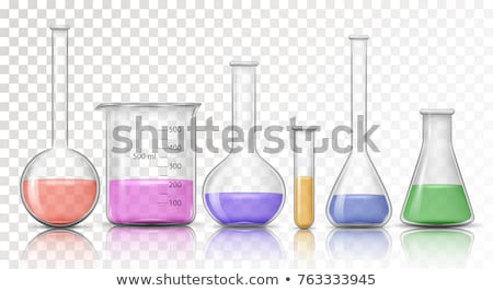 Laboratory bottle filled with blue liquid Stock photo © Zerbor