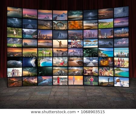 tecnología · tv · vídeo · comunicación · Screen · apretón · de · manos - foto stock © lunamarina