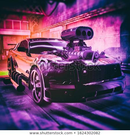 Moderna muscle car mar costa estacionamiento agua Foto stock © ArenaCreative