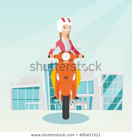 colagem · estrada · abstrato · projeto · laranja - foto stock © arenacreative