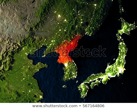 Asia Map with North Korea Stock photo © Ustofre9