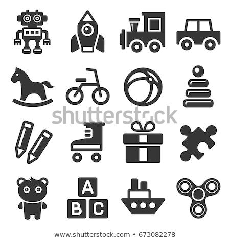 icon · speelgoed · vruchten · top · illustratie · witte · achtergrond - stockfoto © zzve