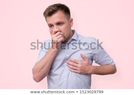 Moço dor baixo de volta isolado branco Foto stock © tiero