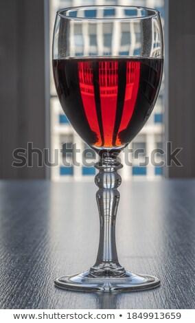 şarap · eski · tablo · içmek · akşam · yemeği · şişe - stok fotoğraf © Ariusz