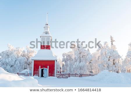 Igreja ver belo típico céu paisagem Foto stock © ajn