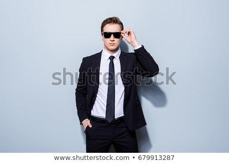 üzletember testőr izolált fehér divat biztonság Stock fotó © pxhidalgo