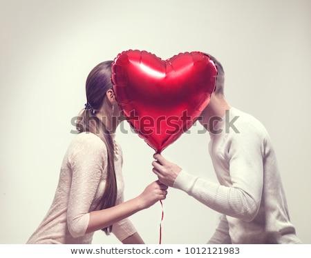 красивая · девушка · форма · сердце · Валентин · день · портрет - Сток-фото © dukibu