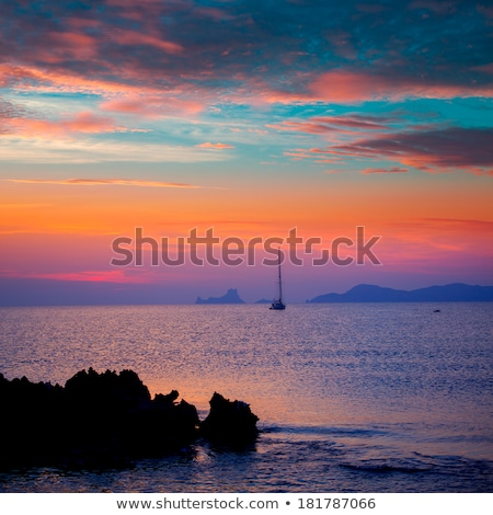 ibiza sunset view from formentera island stock photo © lunamarina