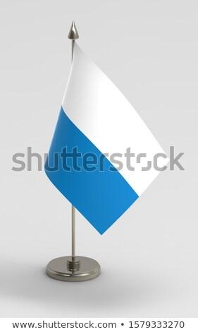 миниатюрный флаг изолированный заседание фон Сток-фото © bosphorus