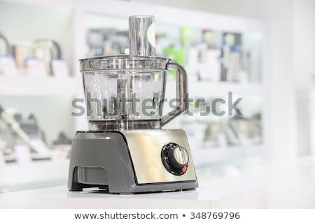電気 · 食品 · プロセッサ · 孤立した · 白 · ナイフ - ストックフォト © kurhan