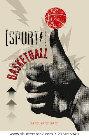 баскетбол · плакат · человека · спорт · подготовки · корзины - Сток-фото © burakowski