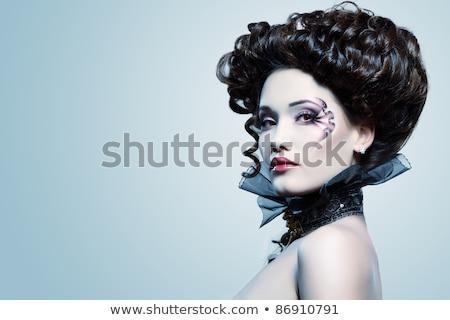 vrouw · vampier · geïsoleerd · gezicht · sexy · mode - stockfoto © elnur