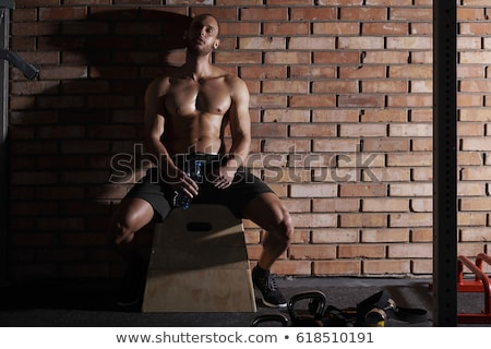 男 トレーニング フロント 表示 クローズアップ ショット ストックフォト © jackethead