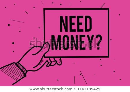 Online money funds, businessman asking for money Stock photo © stevanovicigor