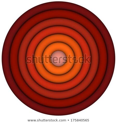 3d koncentryczny rur wielokrotność czerwony pomarańczowy Zdjęcia stock © Melvin07