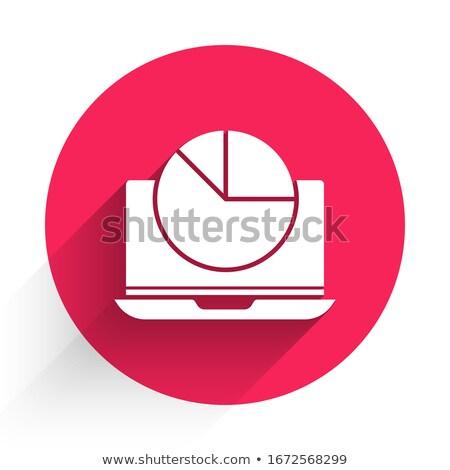 Data Analysis on Red in Flat Design. Stock photo © tashatuvango