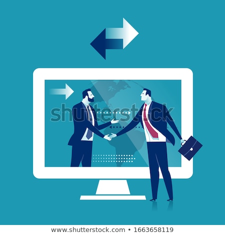 businessman - handshake reach stock photo © dgilder