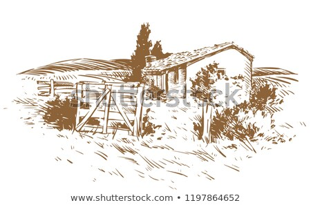 Stock photo: countryside  gate