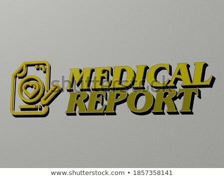 Medical News - Gold 3D Words. Stock photo © tashatuvango