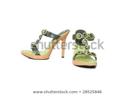 sandales · Homme · pieds · femme · corps · santé - photo stock © aspenrock
