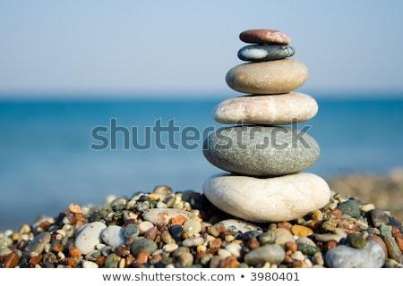 スタック 石 抽象的な 海 青 リラックス ストックフォト © EwaStudio