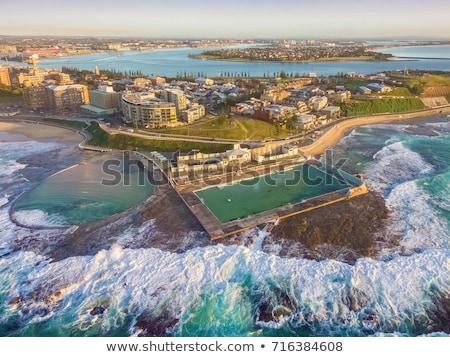 Newcastle Ausztrália kilátás óceán tengerpart belső Stock fotó © jeayesy