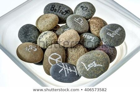 Sözler bilgelik plaka kayalar ilham verici gün Stok fotoğraf © aspenrock