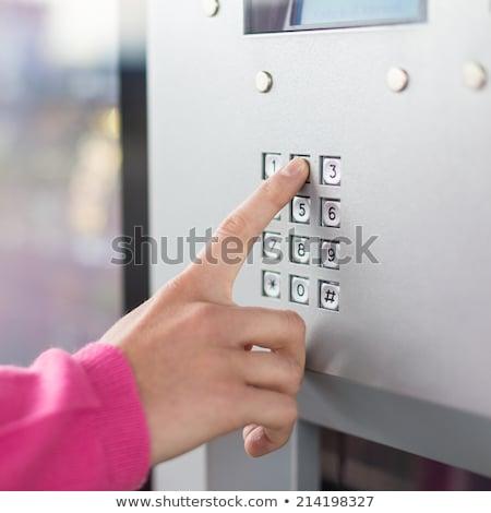 Veiligheid display automaat opschrift business web Stockfoto © tashatuvango