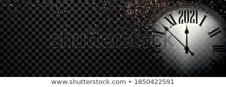 クリスマス クロック ベクトル 光 星 赤 ストックフォト © almoni