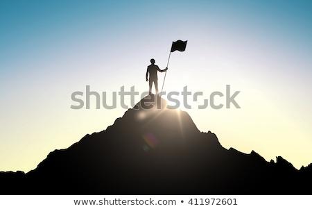 目標 アイコン ベクトル 赤 グレー 色 ストックフォト © aliaksandra