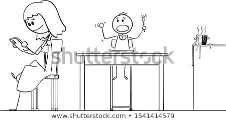 cartoon woman ignoring Stock photo © lineartestpilot