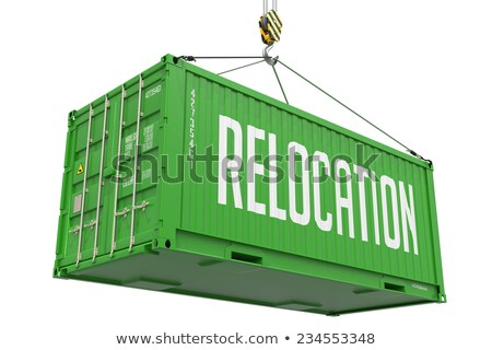 Relocation - Green Hanging Cargo Container. Stock photo © tashatuvango