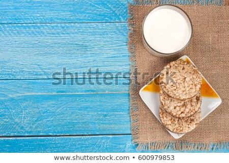 cereal cracker with milk glass Stock photo © M-studio