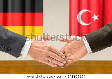 Alemanha Turquia apertar a mão negócio mãos sucesso Foto stock © Zerbor
