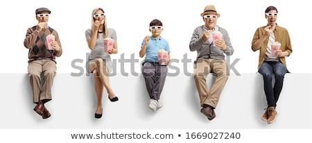 persona · mantener · banner · blanco · 3D · imagen - foto stock © ISerg