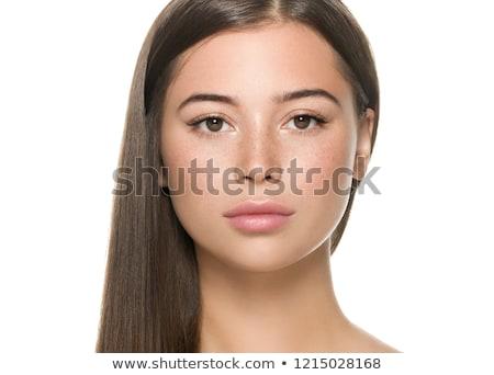 Smooth brunette beauty. Stock photo © lithian