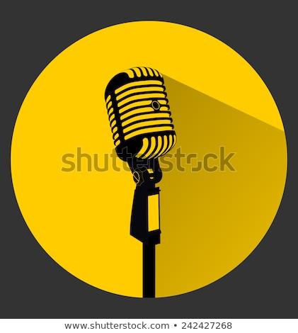 Microphone Yellow Vector Icon Design Stock photo © rizwanali3d