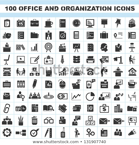 icons of office tools stock photo © robuart
