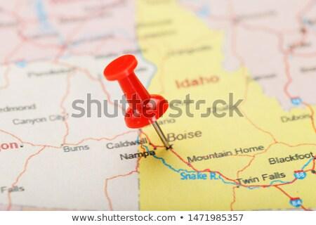 Idaho kaart pin amerikaanse fiche geïsoleerd Stockfoto © speedfighter