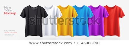 Stock fotó: Színes · pólók · csetepaté · izolált · fehér · divat