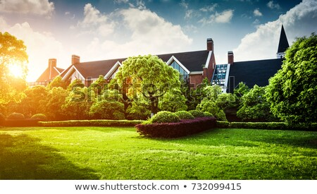 House, garden view Stock photo © alexandre_zveiger