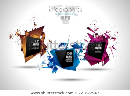 Modern Abstract Infographic template to display data, products Stock photo © DavidArts