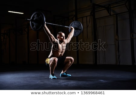 Shirtless gespierd man barbell gymnasium Stockfoto © wavebreak_media