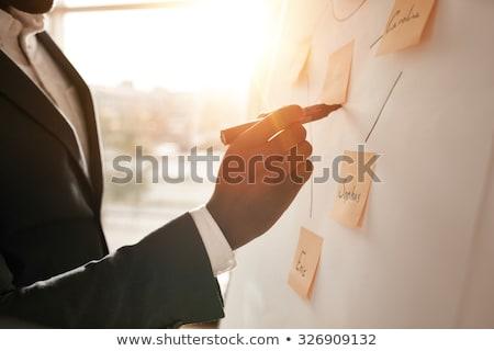 Fókuszált üzletember ír jelző fehér üzlet Stock fotó © wavebreak_media