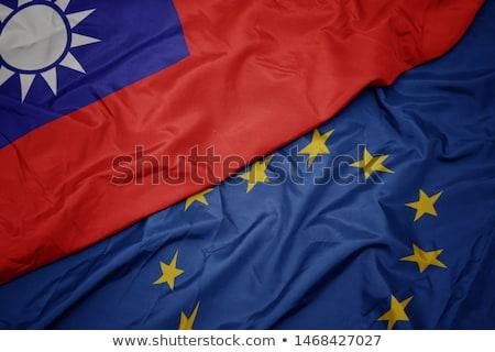 Avrupa sendika Tayvan bayraklar bilmece yalıtılmış Stok fotoğraf © Istanbul2009