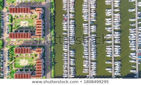 голландский архитектура типичный дома Blue Sky Сток-фото © ldambies