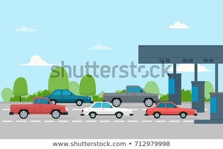Dur işareti araba otobüs trafik euro Stok fotoğraf © Ustofre9